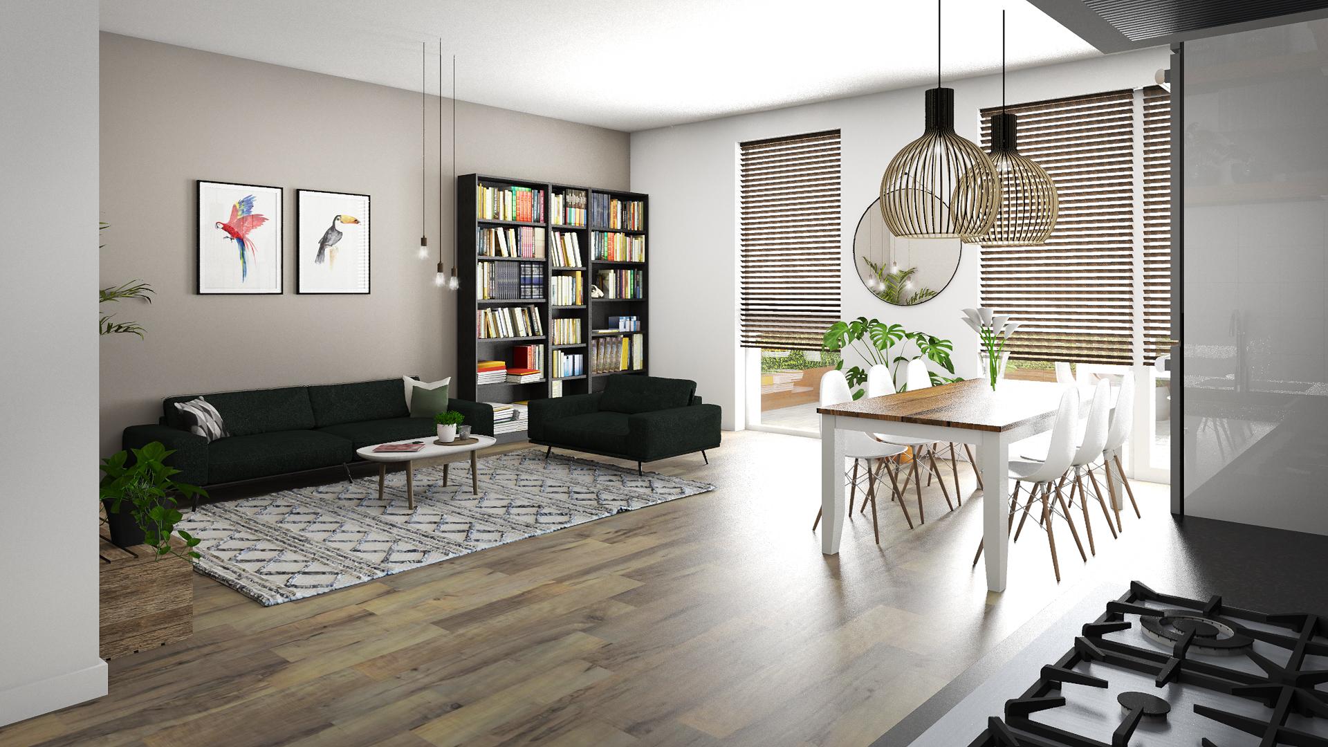 Interieur appartement 'Belamy' Amsterdam