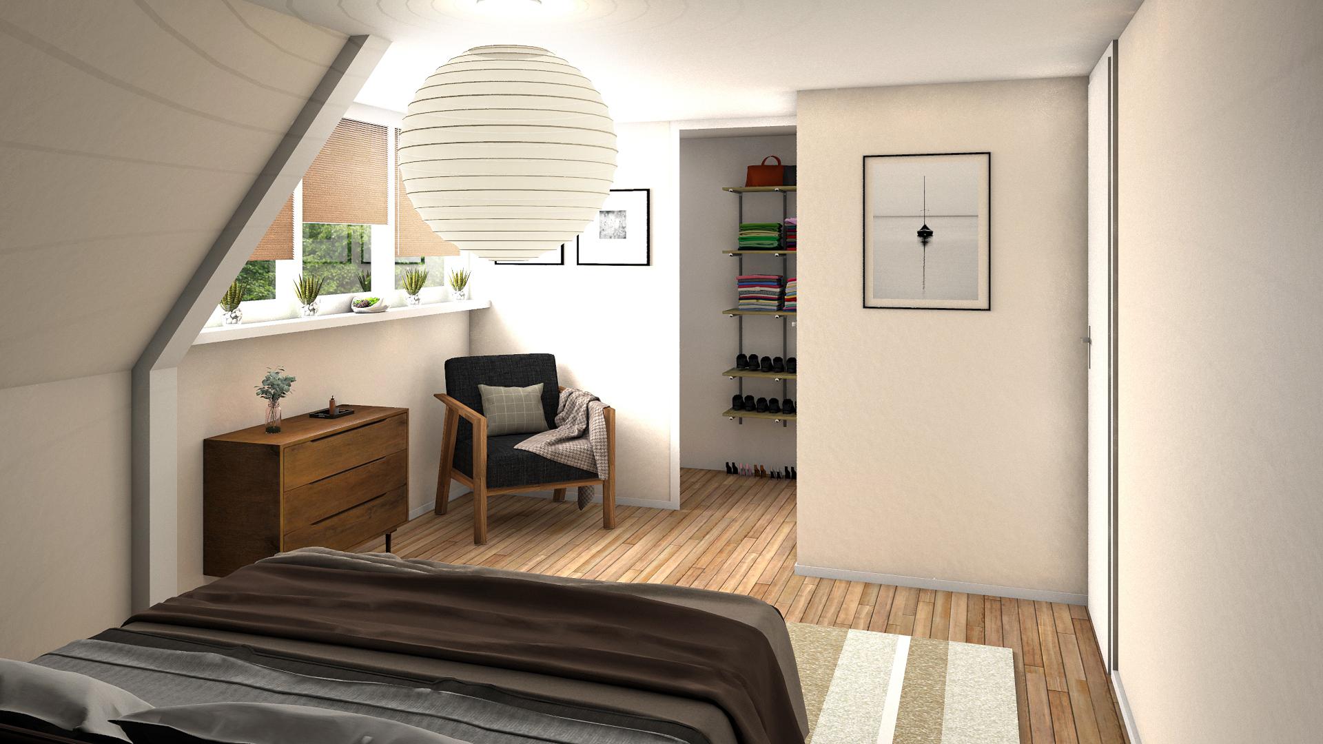 Slaapkamer woning Lekkumerweg Leeuwarden