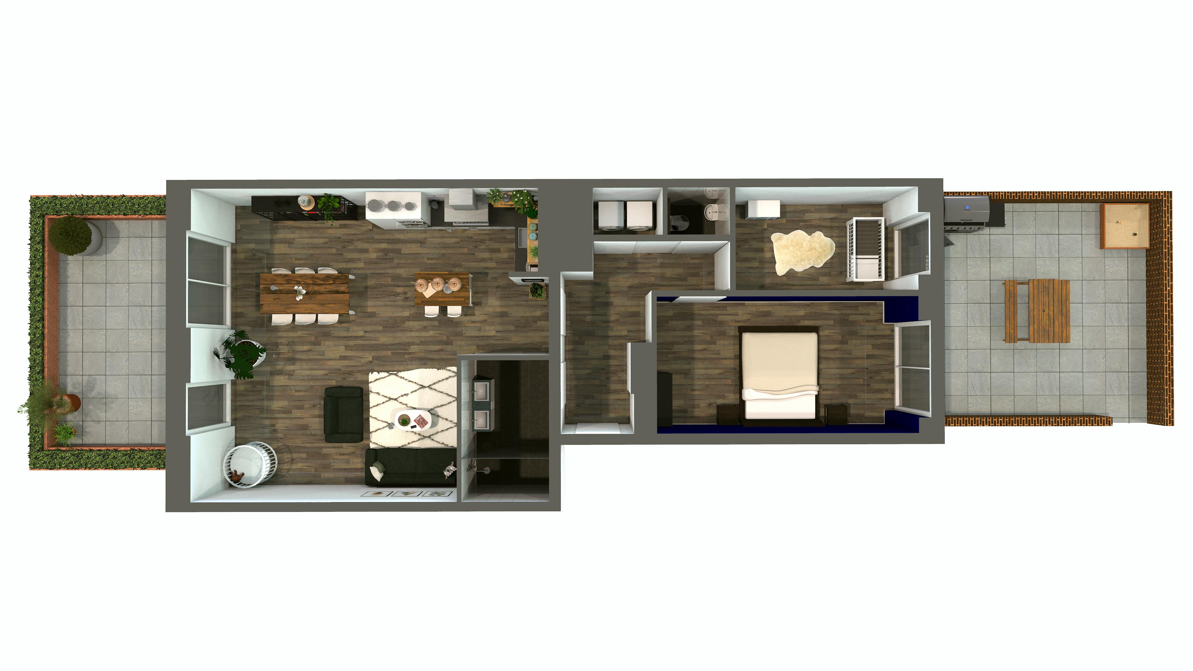 Plattegrond appartement 'De Belamy' Amsterdam