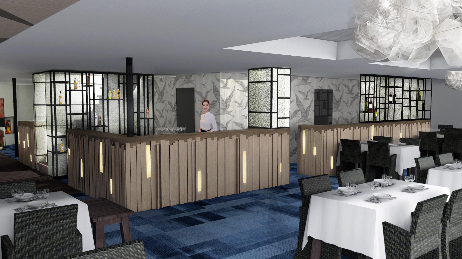 Interieur restaurant 'De Watergeus'