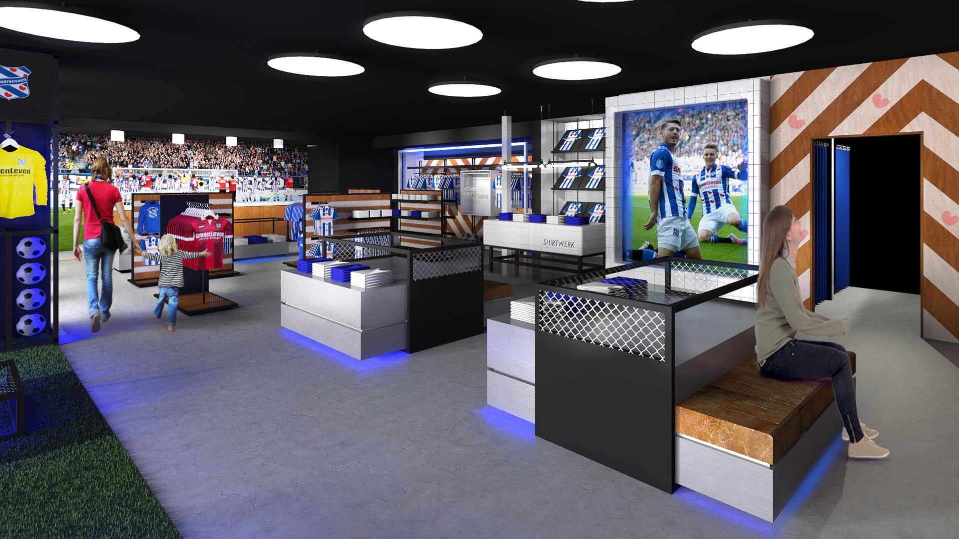 Fanshop (Feansjop) SC Heerenveen.