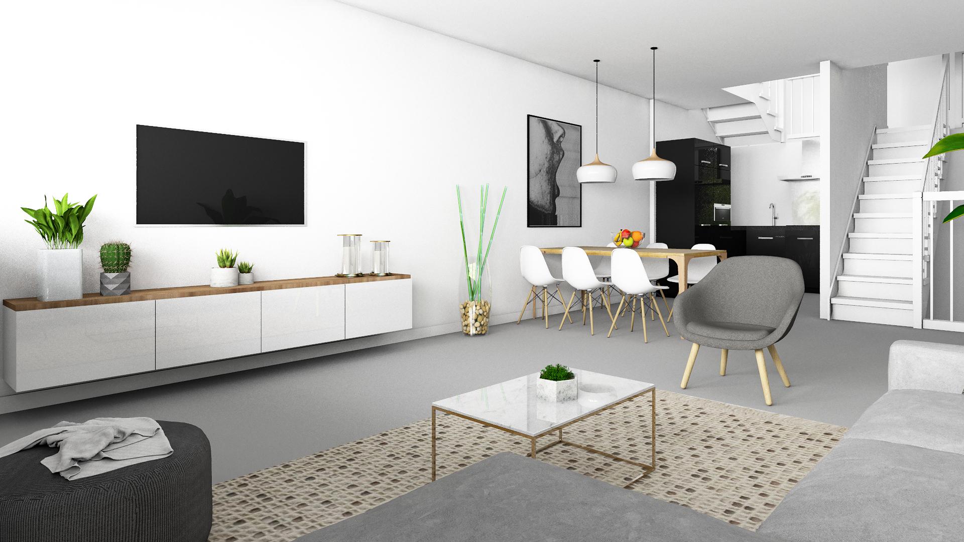 Interieur impressie drive-in Woning Huizen