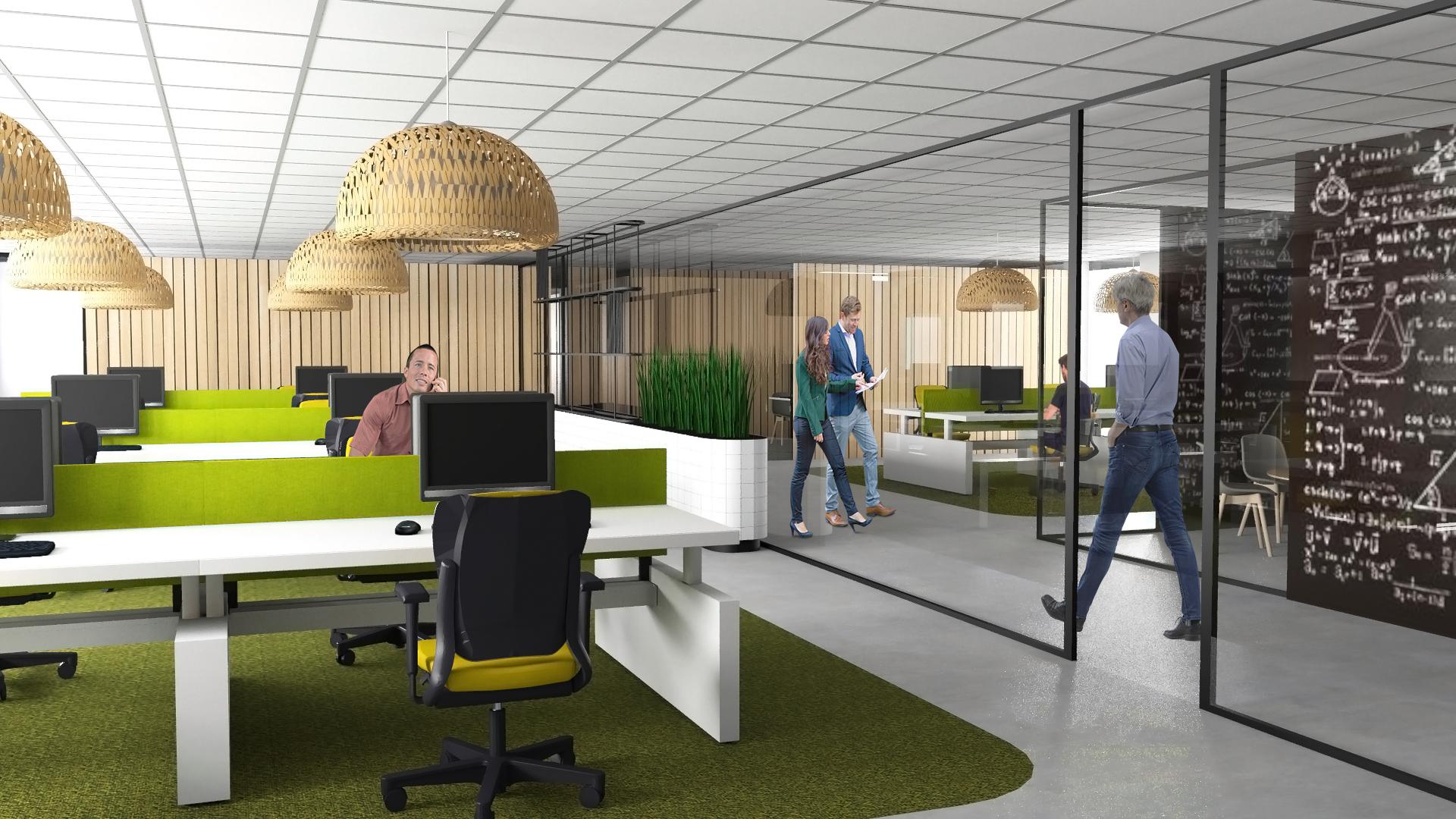 Interieur impressie kantoor Univé Heerhugowaard