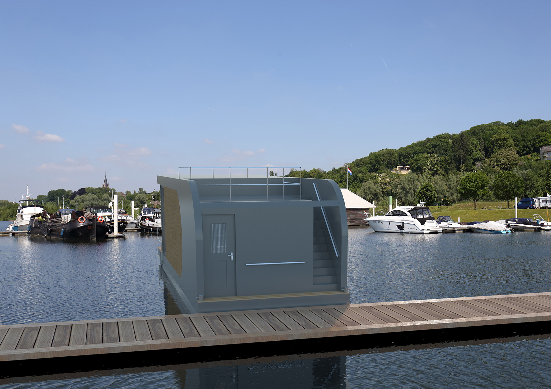 4-persoons Houseboat.