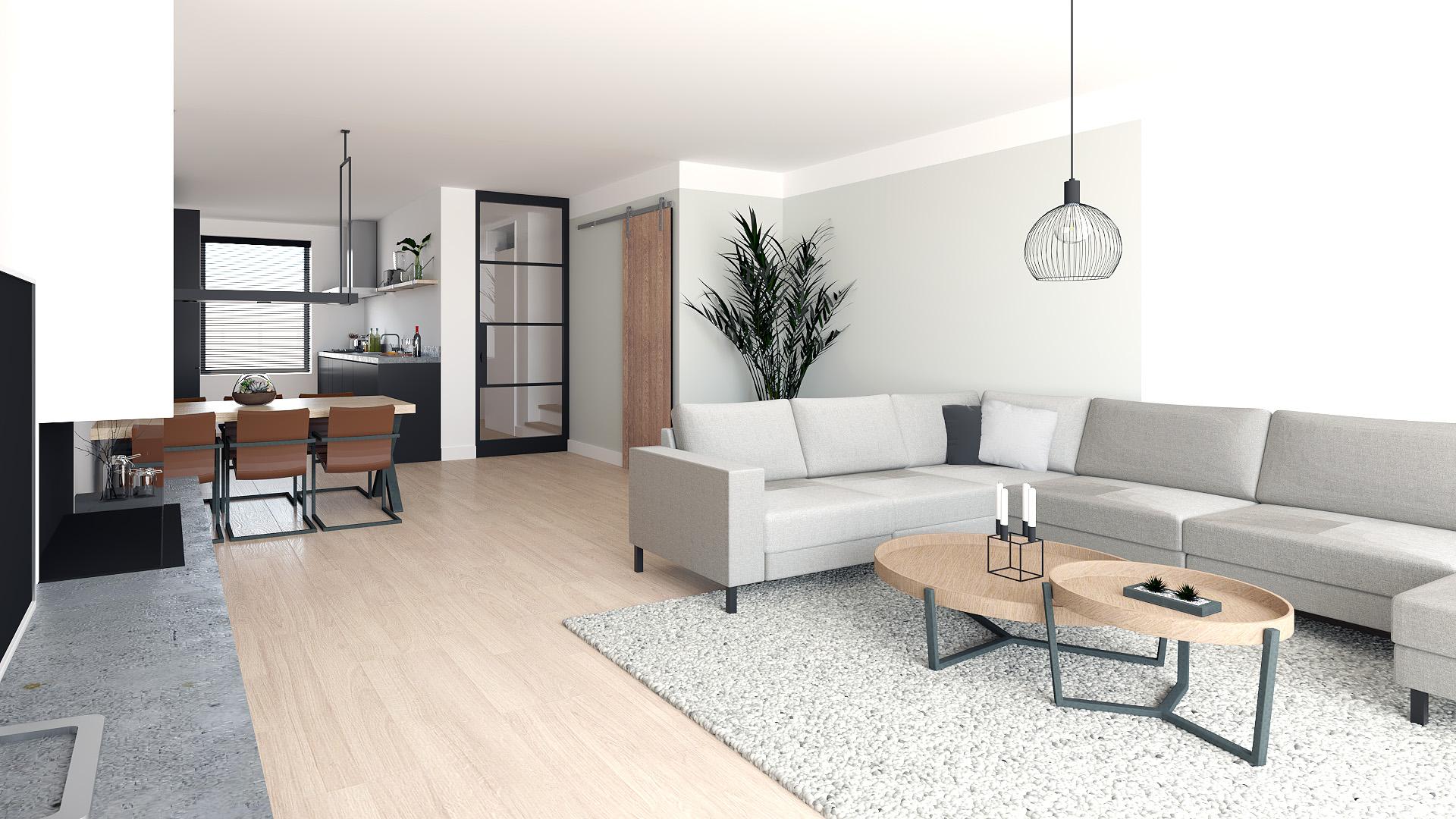 Interieur impressie nieuwbouwwoning Hoef en Haag